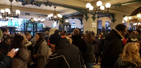 Queuing at Disneyland Paris